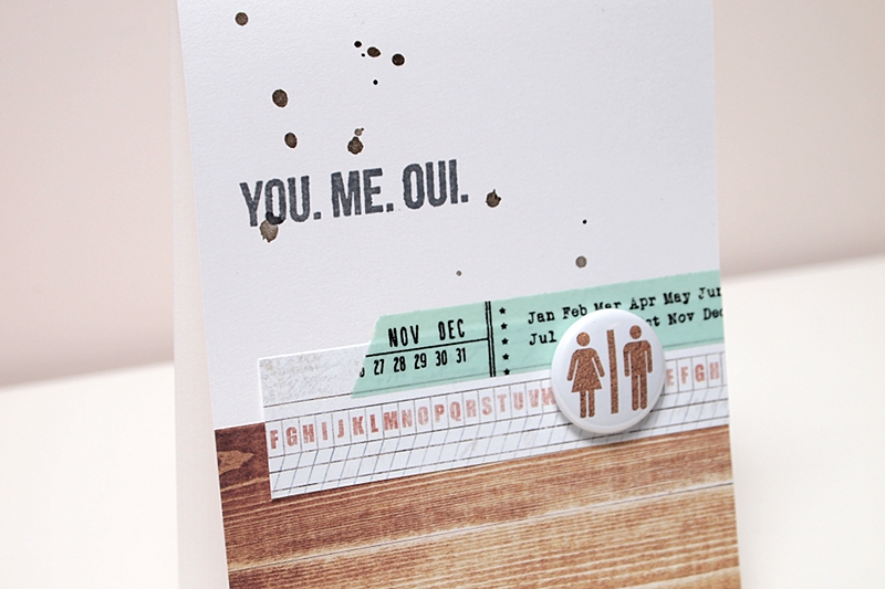 You. Me. Oui. by Els Brigé for A Flair For Buttons