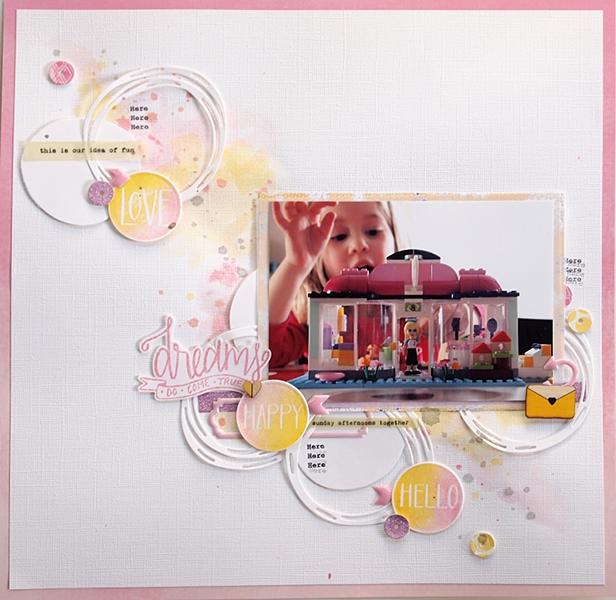Dreams by Els Brigé for Pinkfresh Studio + Neat & Tangled Blog Hop