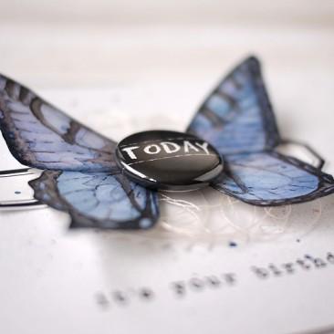 Aquarel Vlinderkaart/Watercolor Butterfly Card