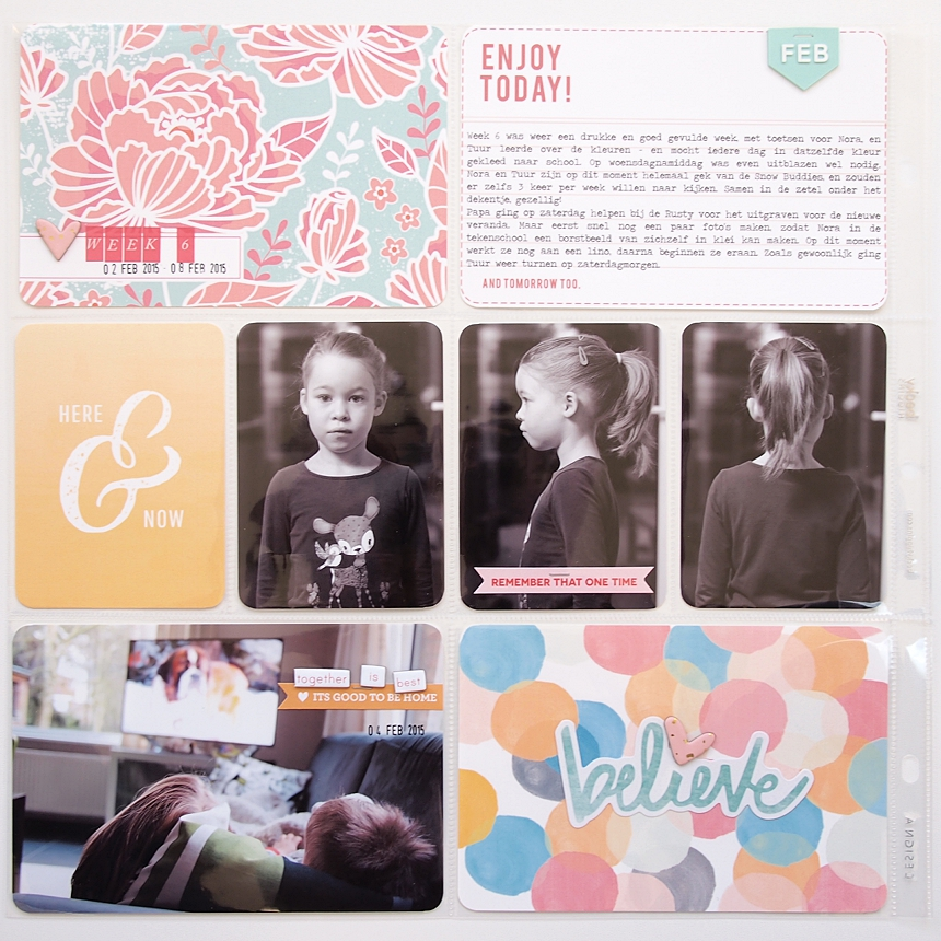 Project Life 2015   Week 6 by Els Brigé  for Becky Higgins DT