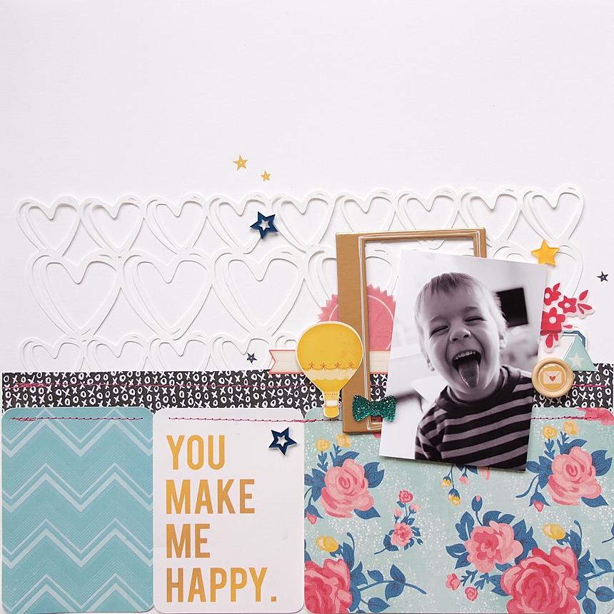 You Make Me Happy by Els Brigé for Becky Higgins DT