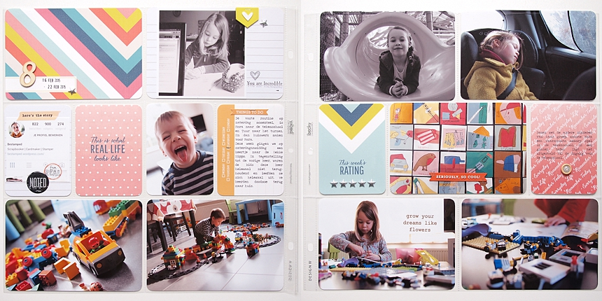Project Life 2015 | Week 8 by Els Brigé for Becky Higgins DT
