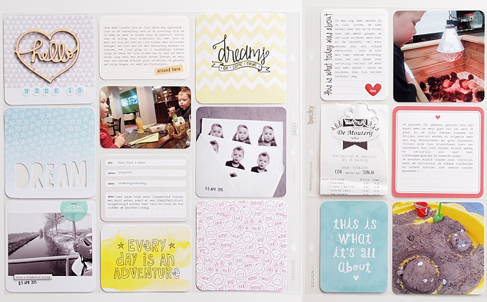 Project Life 2015   Week 15 by Els Brigé for Becky Higgins DT