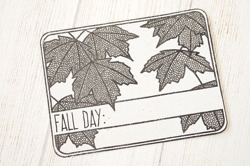 Fall Day journaling card by Els Brigé