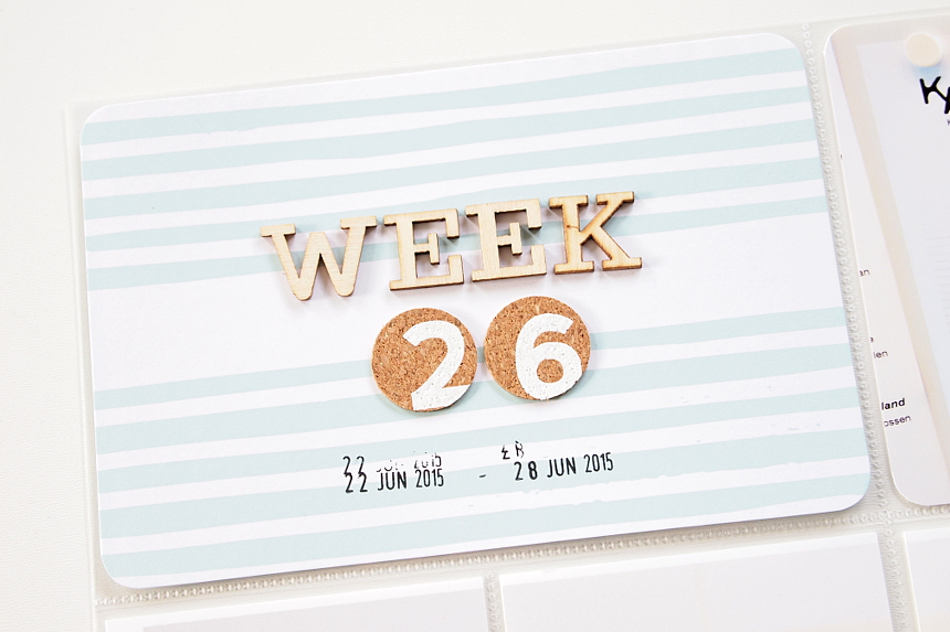 Project Life 2015 | Week 26 by Els Brigé for Becky Higgins DT