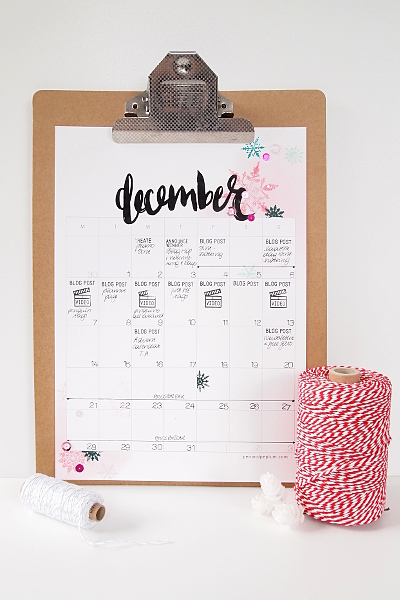 December Blog Planner Page | 7 Days of Christmas 2015 at elsbrige.com