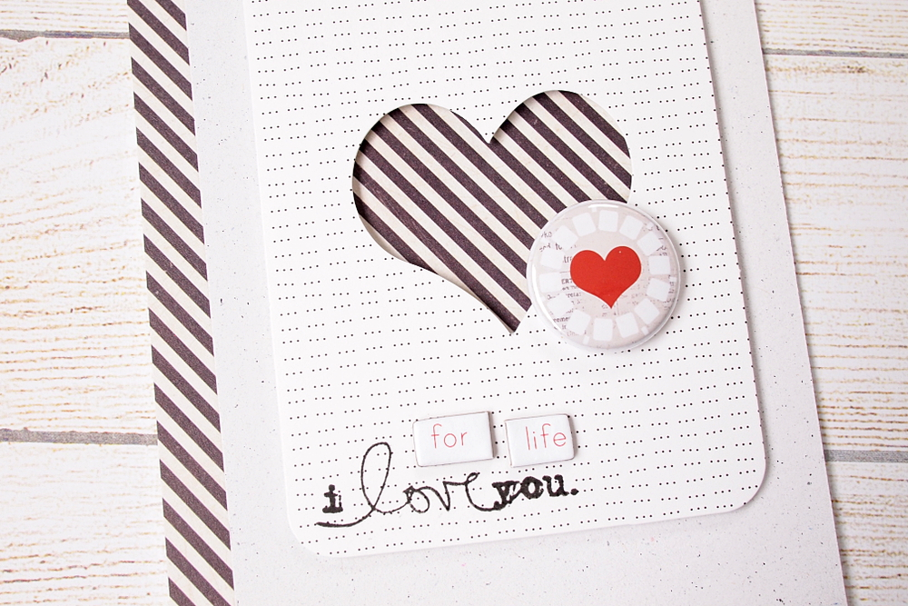 I Love You for Life by Els Brigé for A Flair For Buttons