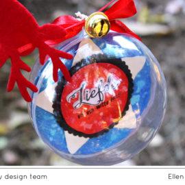 Handgemaakte kerstballen/Handmade ornaments   Ellen