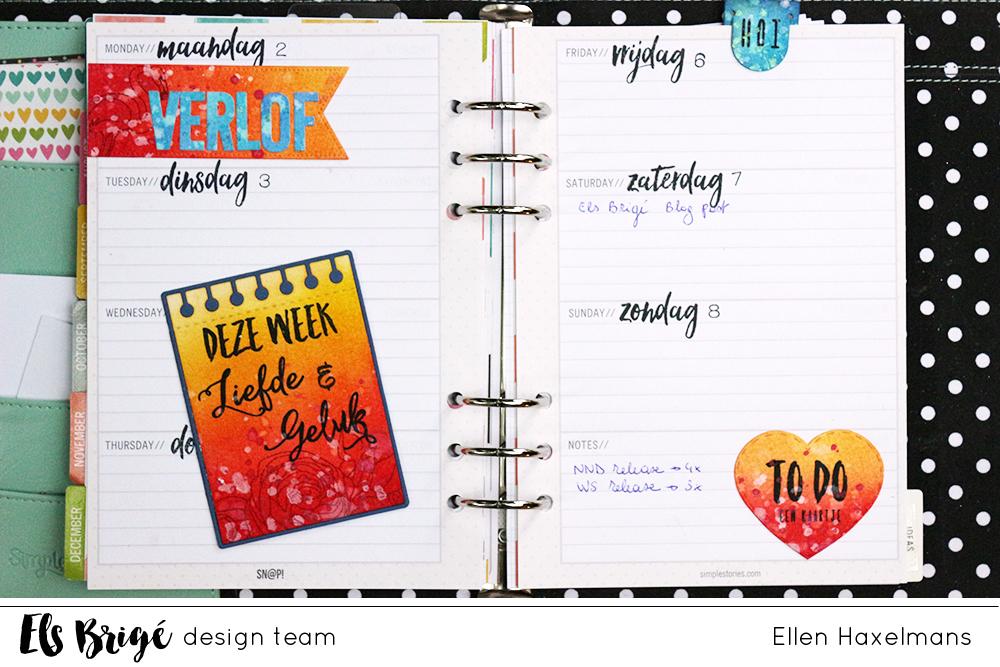 Agendapagina's/Planner pages | Ellen