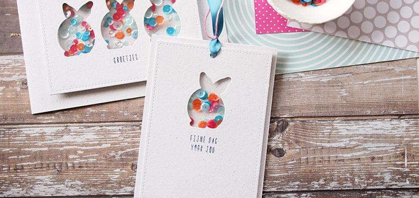 Konijn schudkaartjes/Bunny shaker cards | Els