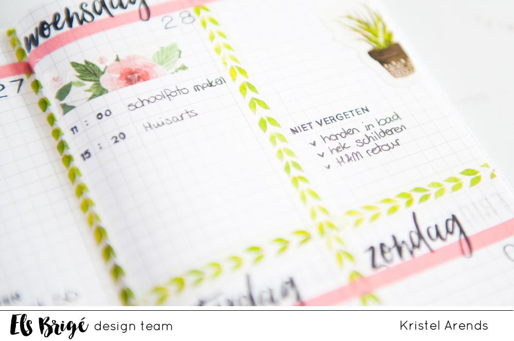 Traveler's notebook planner page / Kristel