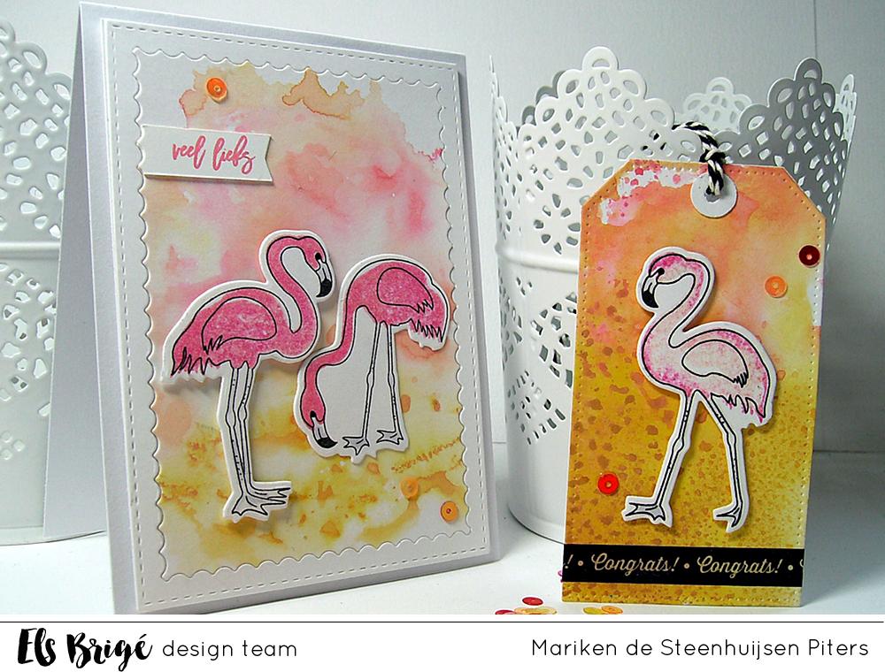 Zomerse flamingo's/ Summer flamingo | Mariken