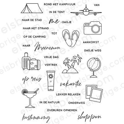 Vakantieplanner Stempelset